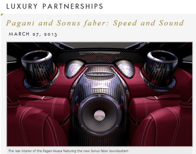 Pagani and Sonus faber: Speed and Sound   Dé Durob Audio